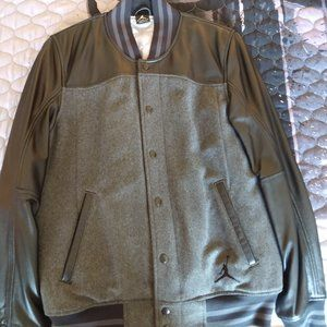 Men's Jordan Leather And Wool Jacket